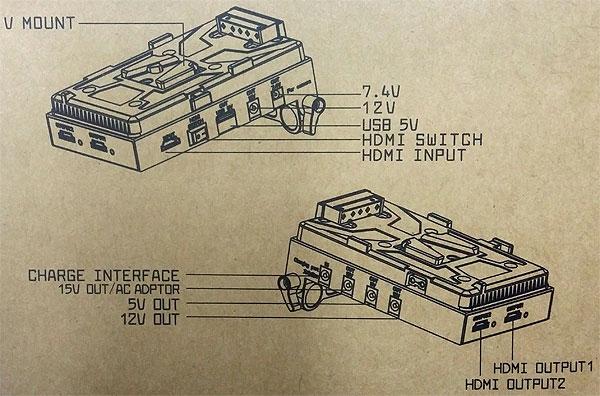Площадка питания LanParte VBP-01 для V-Mount (Battery Pinch)