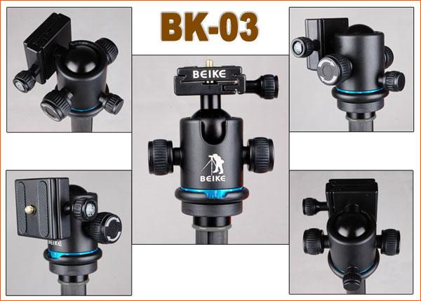 Штатив-монопод Beike BK-476 Карбон (2-в-1)